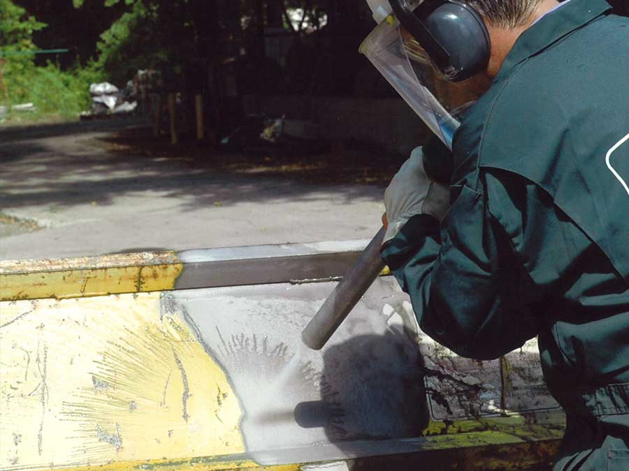crushed glass abrasive blasting